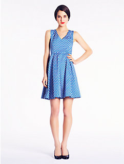 kelley dress in polka dot