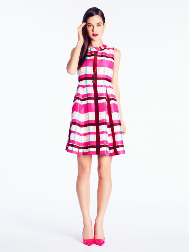 plaid felix dress