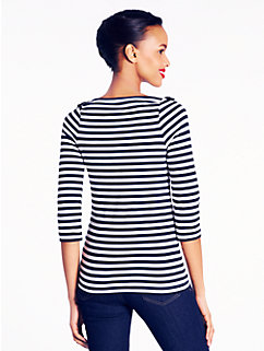 striped greta top