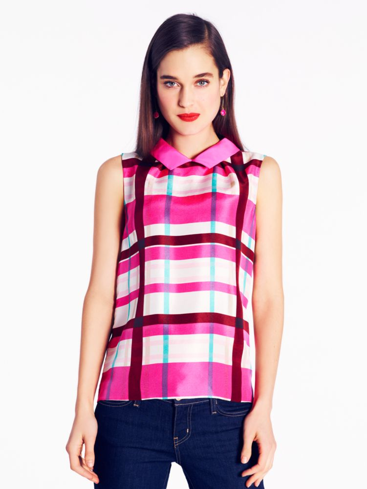 plaid fremont top