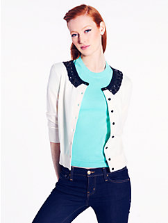 jeweled collar kati cardigan