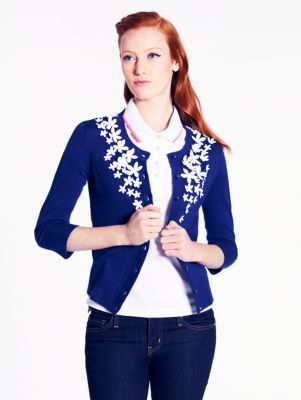 lace flower kati cardigan