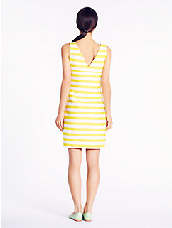 striped silverscreen dress