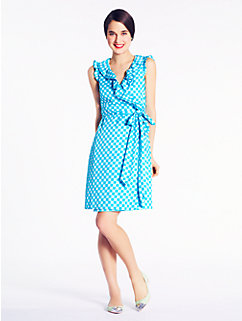 gingham aubrey wrap dress