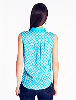 gingham fey top