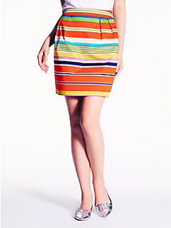picnic stripe barry skirt