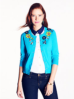 floral beaded kati cardigan