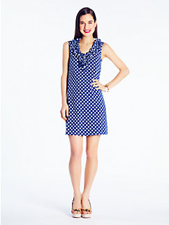 gingham lucille knit dress