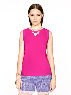 sleeveless fitted tee by kate spade new york