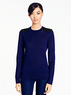 patch leather sweater by kate spade new york