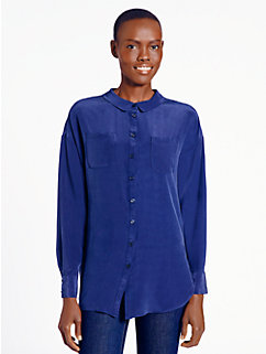 slouchy silk blouse by kate spade new york