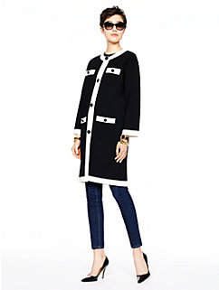 head in the clouds colorblock scuba coat by kate spade new york