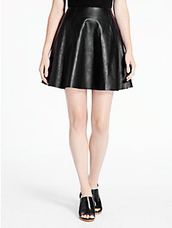 leather circle skirt by kate spade new york