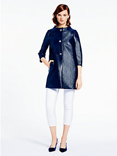 lacquered tweed erika coat by kate spade new york