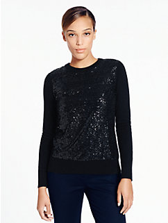 fluffy wool sequin sweater by kate spade new york