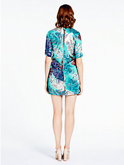 regal plumes platinum jacquard dress by kate spade new york