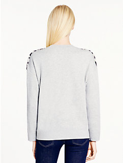 snow leopard fur sweatshirt by kate spade new york