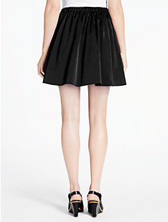 stretch satin gathered skirt by kate spade new york