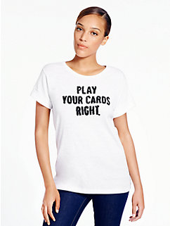 play your cards right tee by kate spade new york