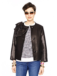 leather dorothy jacket by kate spade new york