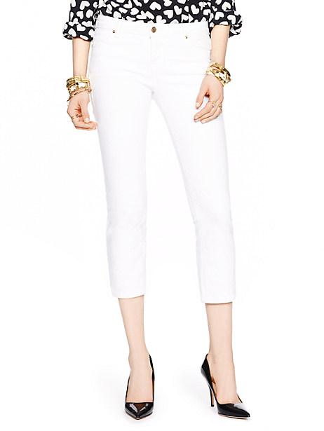 Kate Spade Delancey Street Cropped Jean, Fresh White - Size 24