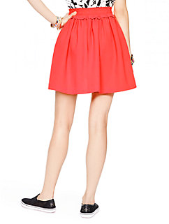 crepe gathered skirt by kate spade new york