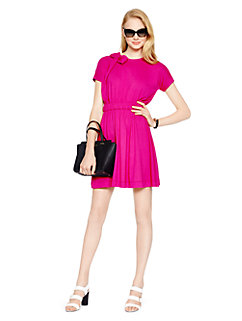 draped cotton jersey dress by kate spade new york