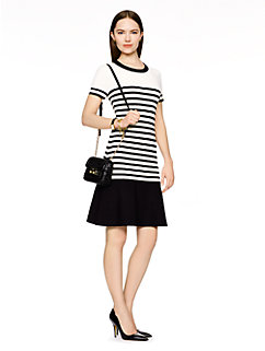 drop waist stripe scuba dress by kate spade new york
