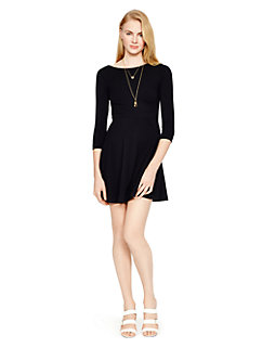 ponte flirty back dress by kate spade new york