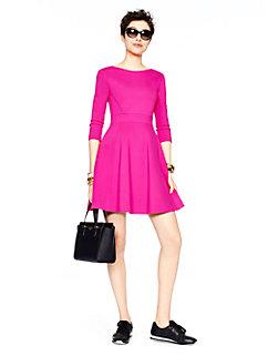 ponte flirty back dress by kate spade new york