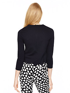 ponte scallop crop top by kate spade new york