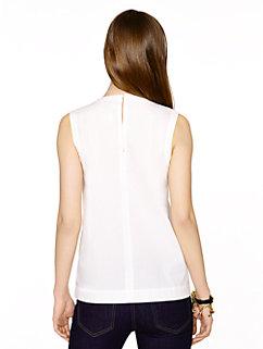 poplin scallop sleeveless top by kate spade new york
