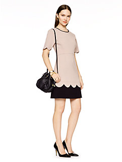 sponge crepe scallop dress by kate spade new york