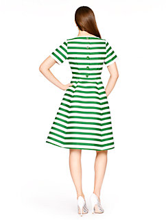 yarn dyed stripe fit and flare dress by kate spade new york