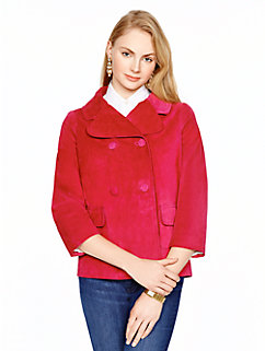madison ave. collection suede greer jacket by kate spade new york