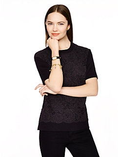 floral lace front sweater by kate spade new york