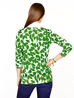 garden leaves cardigan by kate spade new york