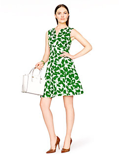 garden leaves pique a-line dress by kate spade new york