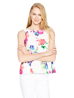 blooms peplum top by kate spade new york