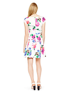 blooms fit and flare dress by kate spade new york