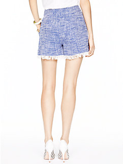tweed fringe short by kate spade new york