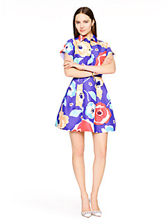 multi floral shirtdress by kate spade new york