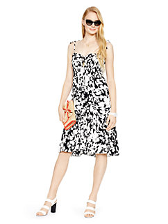 leafy floral crepe sundress by kate spade new york