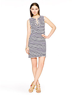 cotton jersey lace-up dress by kate spade new york