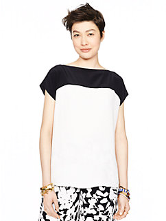 colorblock cap sleeve top by kate spade new york