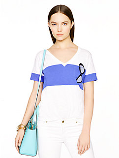 sunglasses jersey pocket tee by kate spade new york