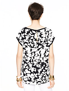 leafy floral cap sleeve top by kate spade new york