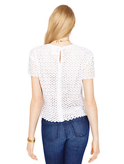 guipure lace scallop top by kate spade new york