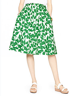 garden leaves poplin skirt by kate spade new york