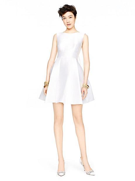 Kate Spade Open Back Silk Mini Dress, Fresh White - Size 12